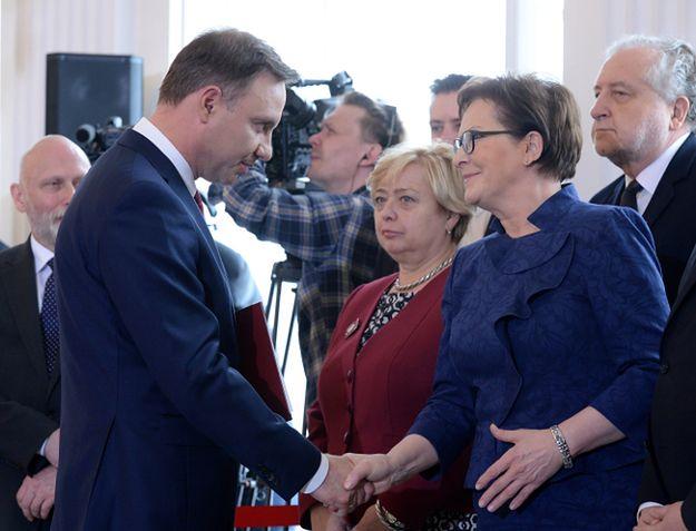 Andrzej Duda i Ewa Kopacz