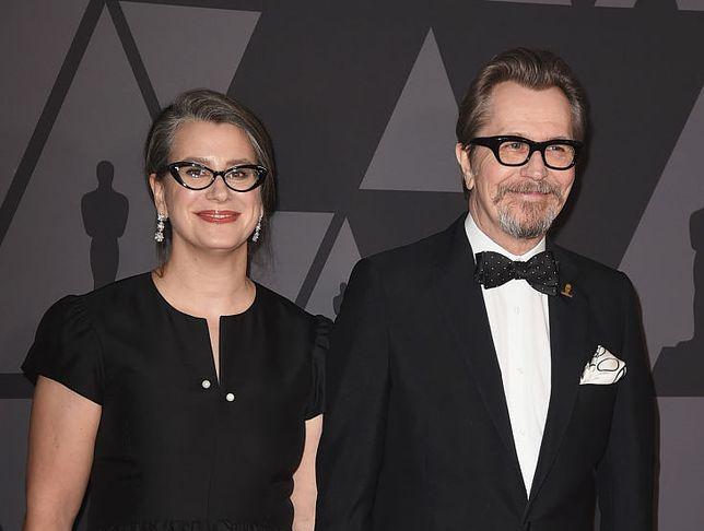 Gisele Schmidt i Gary Oldman na gali rozdania Oscarów, 2017