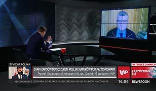 Zapisy na szczepienia COVID-19. Dr Paweł Grzesiowski mówi o największych obawach