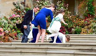 Lady Louise na ślubie księżniczki Eugenii