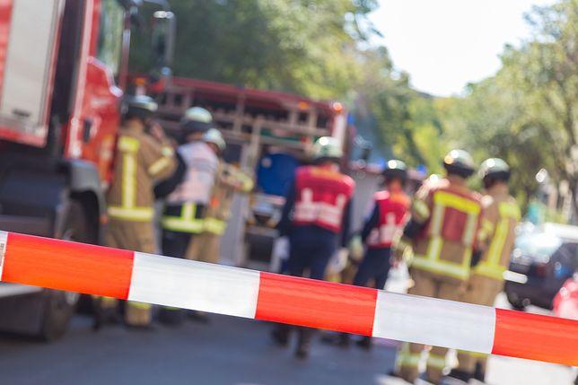 Straż pożarna szybko przybyła na miejsce.