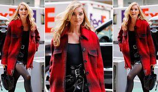 Elsa Hosk i jej sposób na modną kratę