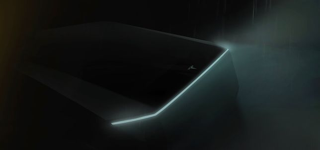 Teaser nowej Tesli pickup firmy Elona Muska.