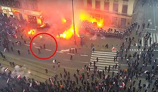 Marsz Niepodległości. Policja agresywna? MSWiA publikuje zapis z monitoringu