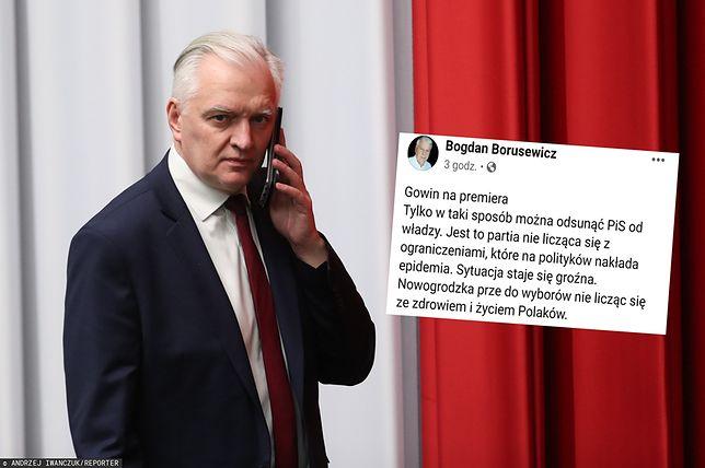 Bogdan Borusewicz: Jarosław Gowin powinien zostać premierem