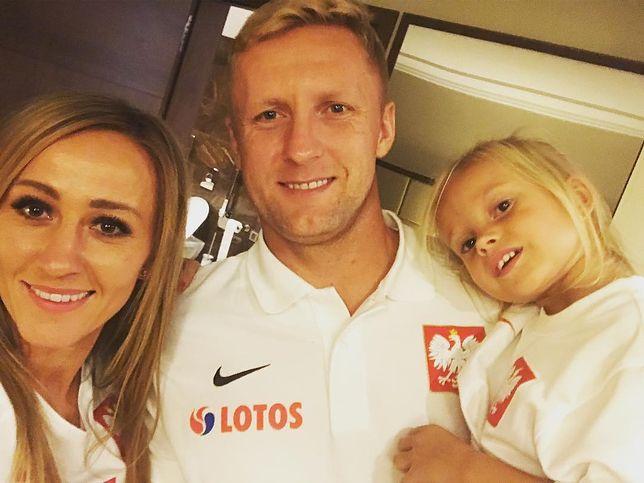 Marta Glik z rodziną