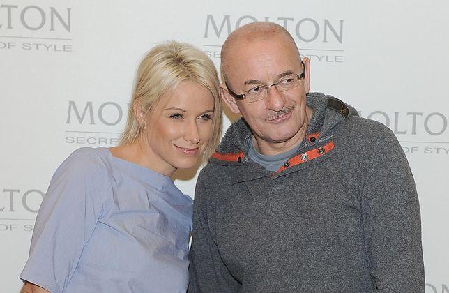 Marcin Daniec na noworocznym zdjęciu z żoną Dominiką Grobelską. Dzieli ich 20 lat