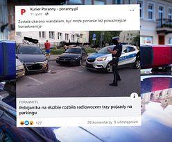 Ale urwała! Policjantka z Białegostoku dostała mandat za to, co wyprawiała na parkingu