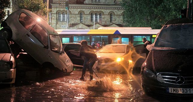 Grecja - Ateny pod wodą