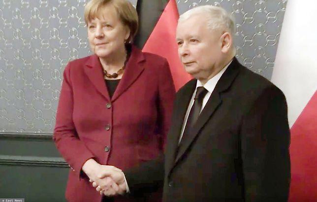 Na zdjęciu Angela Merkel i Jarosław Kaczyński (East News)