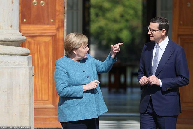 Merkel w Warszawie. Wymowny gest kanclerz Niemiec