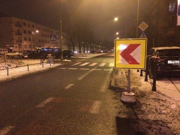 """Nowe oznakowanie wysepek na Krasińskiego. """"Priorytet to bezpieczeństwo pieszych i rowerzystów"""""""