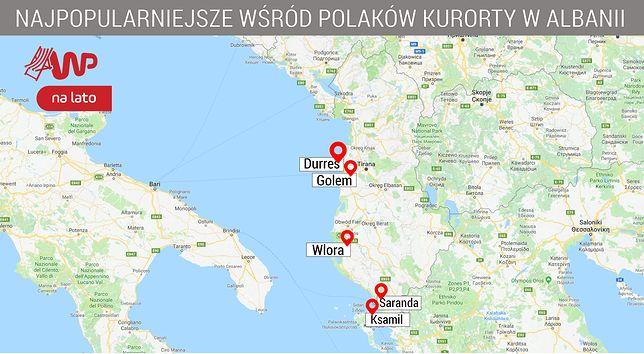 Albania jest w pierwszej dziesiątce najczęściej wybieranych kierunków przez Polaków