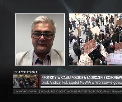 Koronawirus. Prof. Andrzej Fal o konsekwencjach protestów dla sytuacji epidemicznej