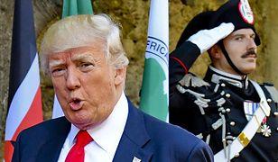 Donald Trump przed obradami G7 w Taorminie