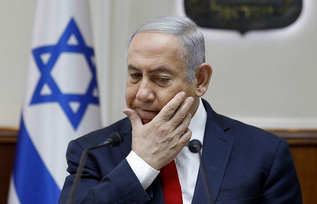 Premier Izraela Beniamin Netanjahu podczas posiedzenia rządu w Jerozolimie
