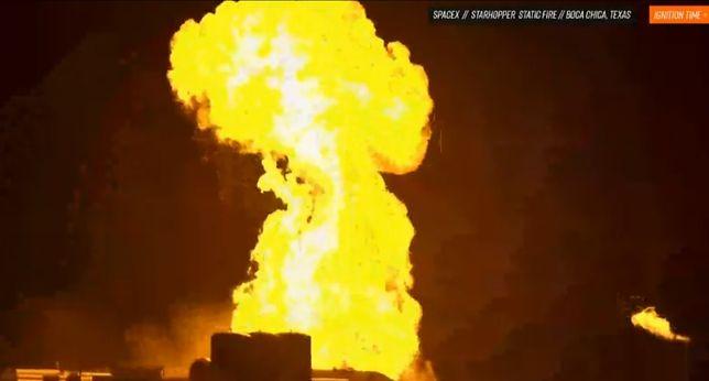 W trakcie testowego startu Starhopper doszło do pożaru