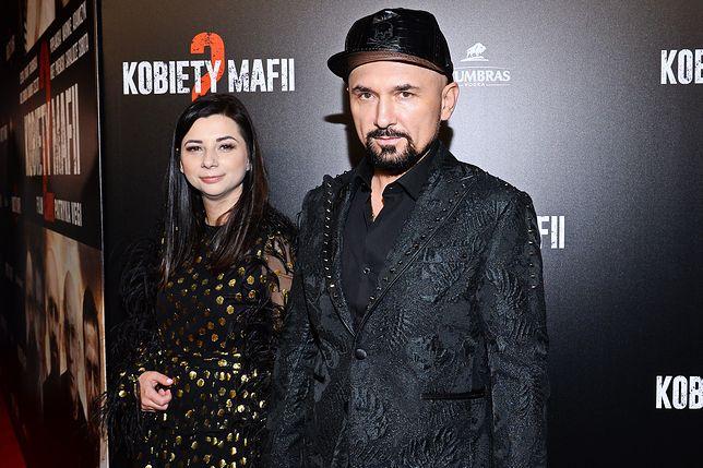 Patryk Vega z żoną Katarzyną Słomińską