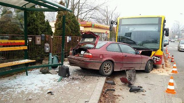 Miejsce wypadku przy ul. Rojnej w Łodzi.