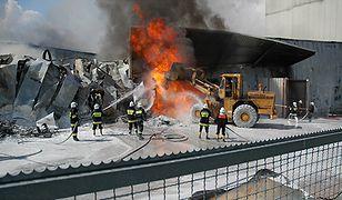 Pożar w zakładach Atlas w Zgierzu