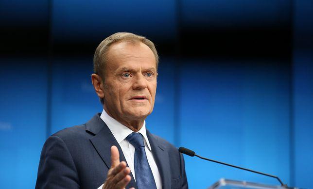 Bruksela. Przewodniczący Rady Europejskiej Donald Tusk