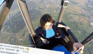 Minister pochwaliła się zdjęciami z lotu balonem. Jej odpowiedź na komentarz bije wszystko