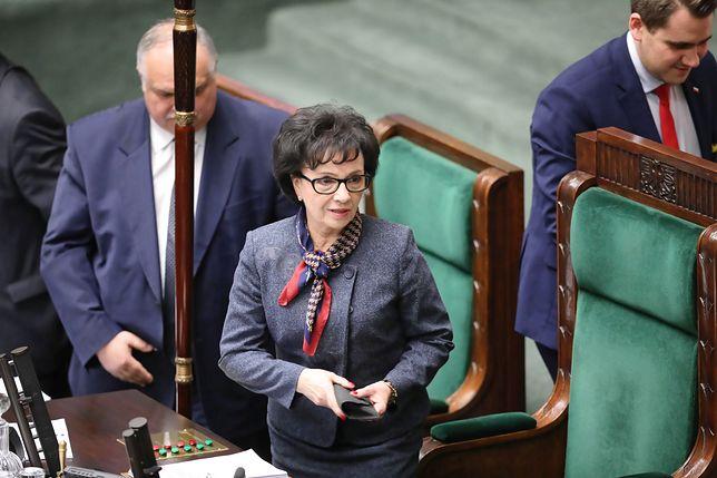 Anulowanie głosowania przez marszałek Elżbietę Witek wciąż budzi emocje