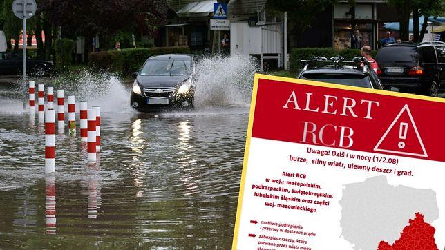 Potężne burze. Alert RCB w Polsce