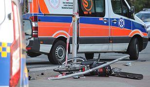 Toruń. Tragedia na Szosie Chełmińskiej. Rowerzysta nie żyje