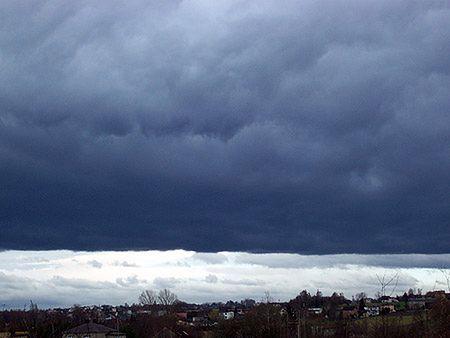 Niebo w okolicach Rybnika w województwie śląskim