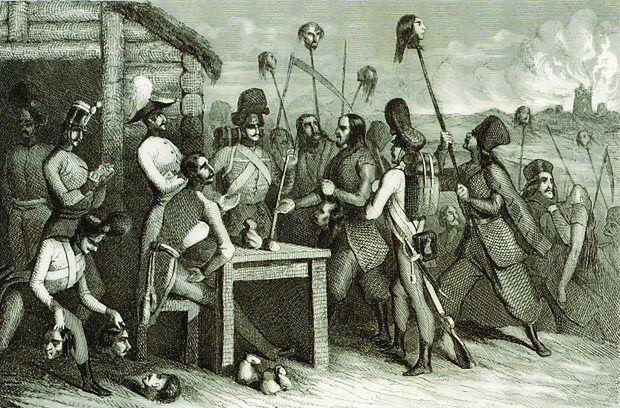 Pański ucisk, chłopska krzywda - tak widzi się relacje między polską szlachta a chłopstwem. Jednak i uciskani potrafili pokazać, że są bezlitośni. Na ilustracji fragment XIX-wiecznego francuskiego stalorytu przedstawiającego rzeź galicyjską.