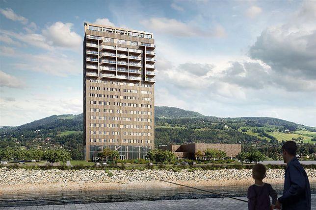 Najwyższy drewniany wieżowiec świata powstanie nad jeziorem Mjøsa