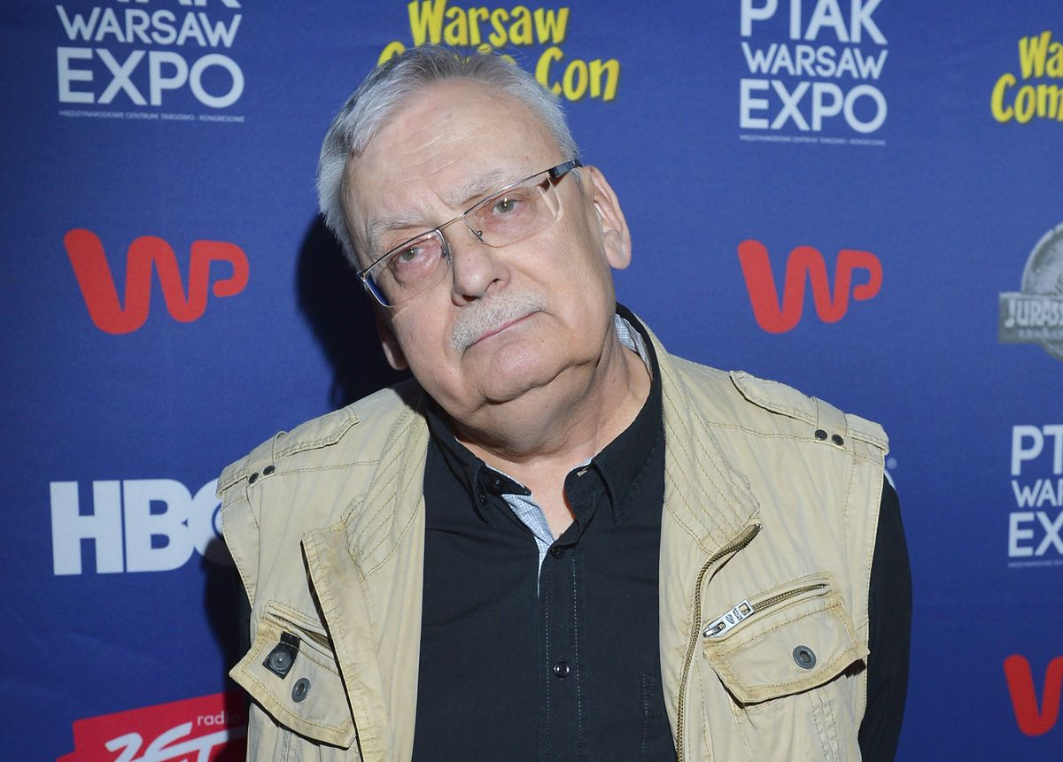 Andrzej Sapkowski na Warsaw Comic Con w 2018 r.