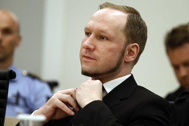 Anders Breivik podczas procesu, 2012 r.