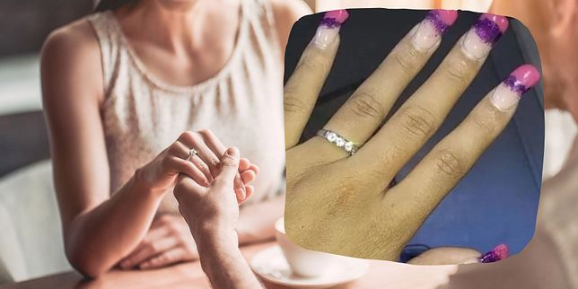 Przyszła panna młoda pokazała pierścionek zaręczynowy. Internauci patrzyli tylko na paznokcie