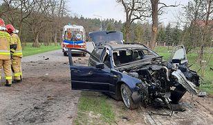 Lubelskie. Pijany 20-letni kierowca uderzył w drzewo