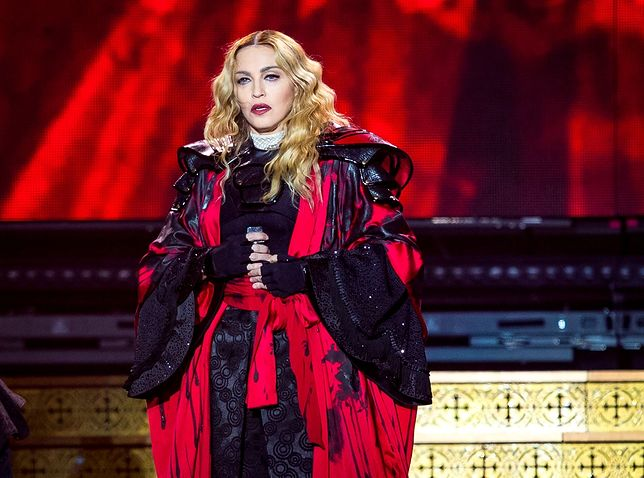 LAS VEGAS, NV - October 24: Madonna performs at MGM Grand Garden Arena at MGM Grand Resort in Las Vegas, NV on October 24, 2015. Credit: Erik Kabik Photography/ MediaPunch