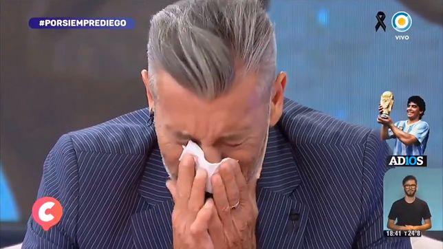El Goyco rozkleił się, gdy żegnał Diego Maradonę