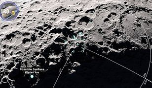 NASA odkryła kolejne ślady wody na Księżycu