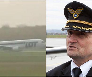8 lat temu kapitan Wrona lądował awaryjnie na warszawskim Okęciu.