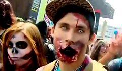 Chile - karnawał zombie na ulicach Santiago