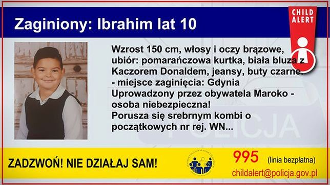 Child Alert. Trwają poszukiwania 10-letniego Ibrahima