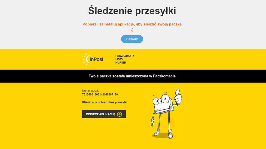 """Spreparowana strona """"InPostu"""", fot. Oskar Ziomek"""