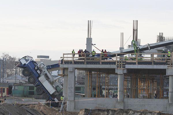 Wypadek na budowie Dworca Głównego PKP w Poznaniu