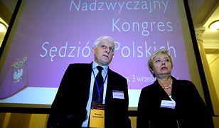 Przewodniczący KRS Dariusz Zawistowski i pierwsza prezes SN Małgorzata Gersdorf, uczestnicy Nadzwyczajnego Kongresu Sędziów Polskich