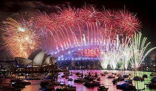Nowy rok w Australii. Most nad Zatoką Port Jackson w Sydney