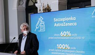 Warszawa 03.02.2021. Konferencja prasowa nt. szczepionki AstraZeneka. N/z doradca premiera ds. szczepien prof. Andrzej Horban.