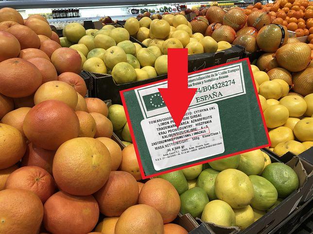 Na owocach cytrusowych znajdują się konserwanty.