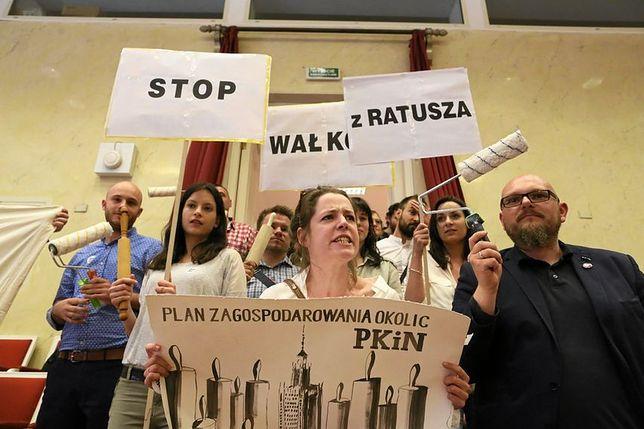 Protest w sprawie reprywatyzacji w Warszawie