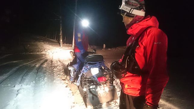 Całonocna akcja ratowników w górach. Szukali jubilata przy -18 stopniach